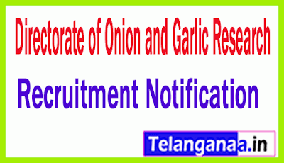 Directorate of Onion and Garlic Research DOGR Recruitment Notification