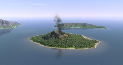 Anak Krakatoa Volcano Island Indonesia
