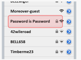 password wifi name images