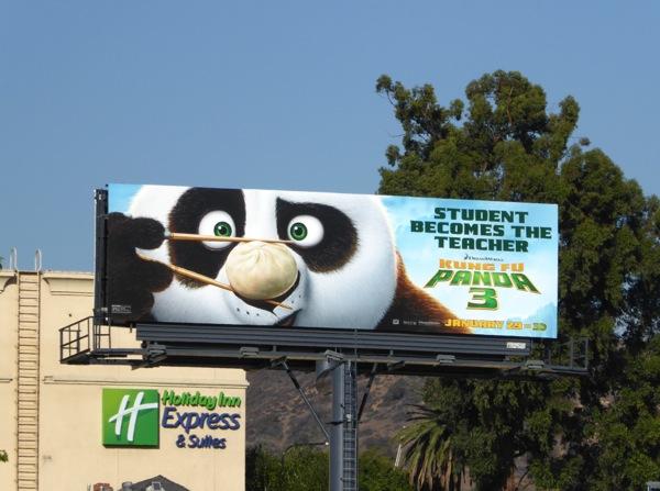 Kung Fu Panda 3 Dim sum chopsticks billboard