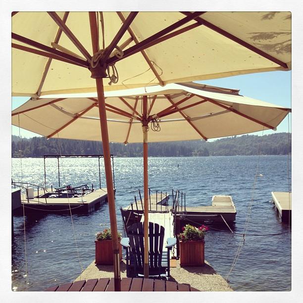 cute dock on the lake