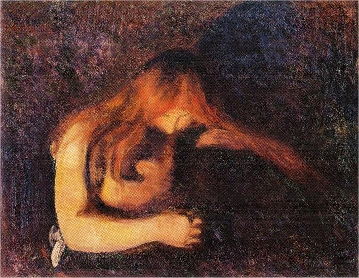 Vampiro - Munch, Edvard esuas principais pinturas ~ Um grito de desespero existencial