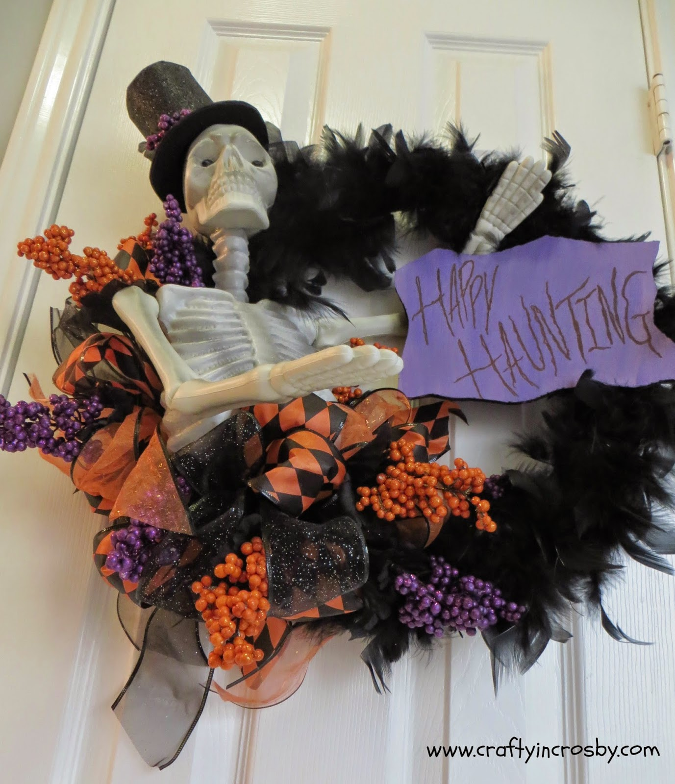 Halloween Chair Covers Dollar Tree Swivel Rocking With Ottoman Crafty In Crosby Grandinroad Wreath Knock Off