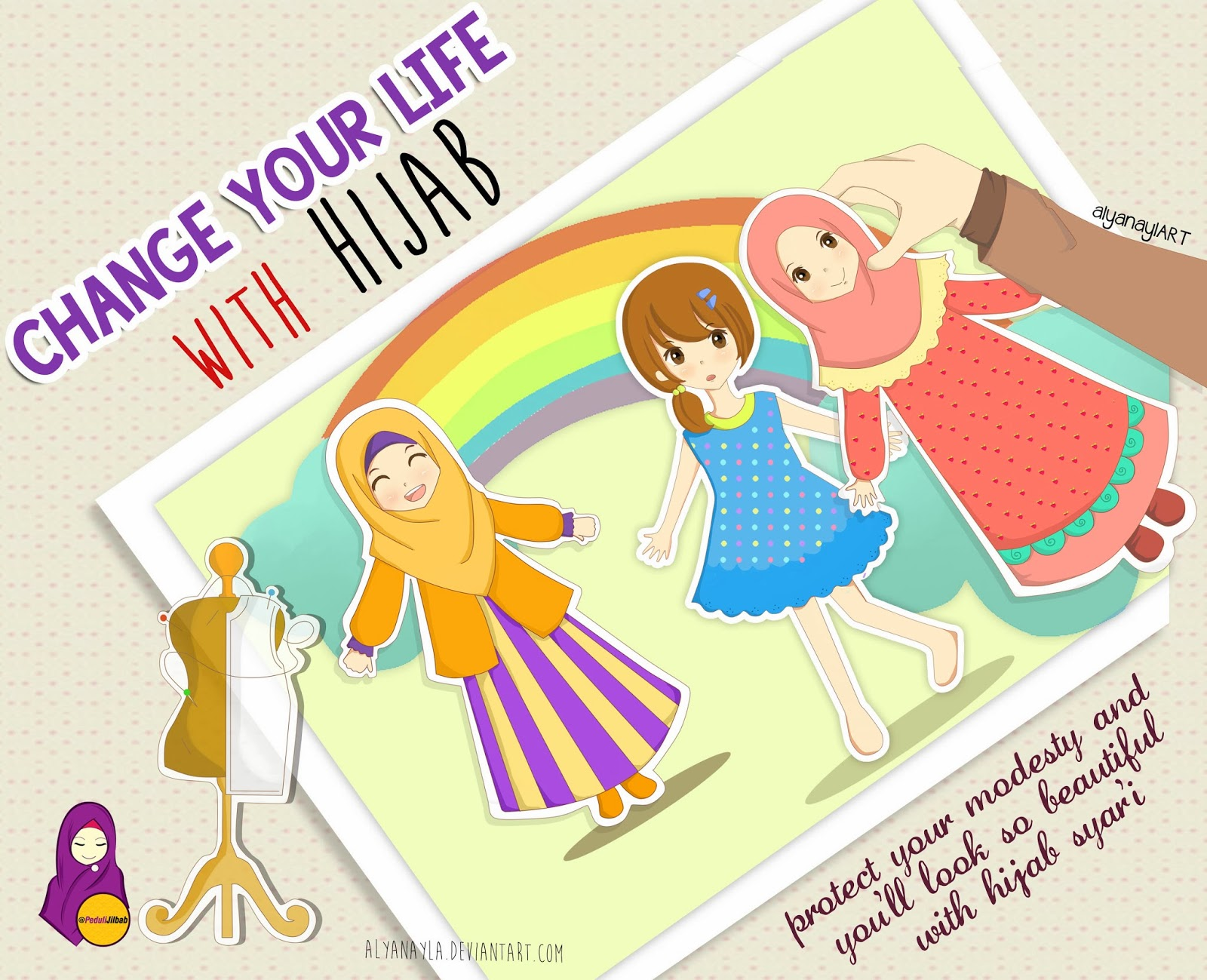 Gambar Kartun Muslimah Fotografer Gambar Kartun