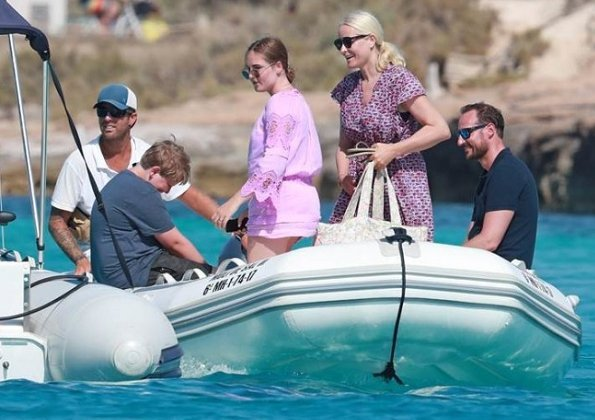 Crown Prince Haakon, Crown Princess Mette-Marit, Princess Ingrid Alexandra and Prince Sverre Magnus on holiday