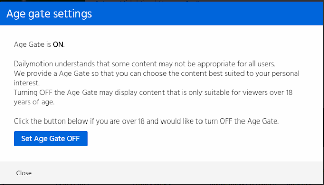 Dailymotion Age Gate