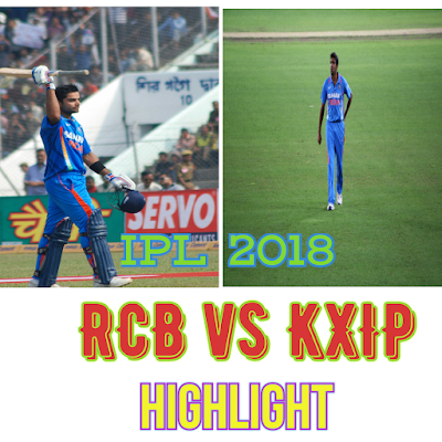 Cricket, IPL 2018 RCB vs KXIP match prediction and letest updates