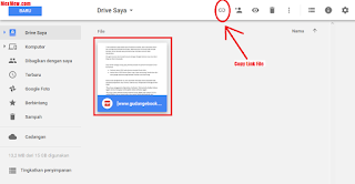 hasil upload googl drive,cara upload ke google drive,unggah file google drive