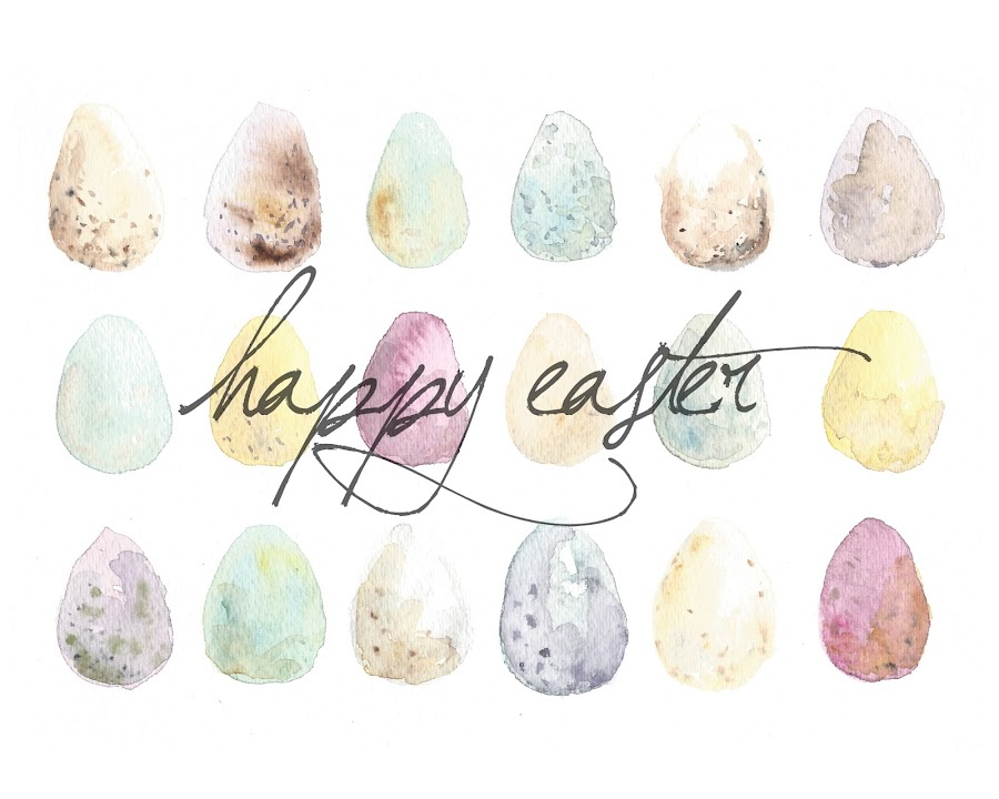 Eggs watercolor Easter printable