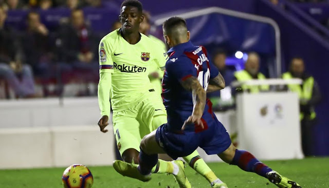 FC Barcelona Dembele Vs Levante Defender