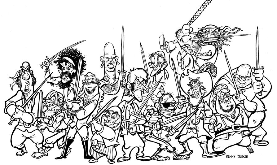 DURKINWORKS: 13 pirates.