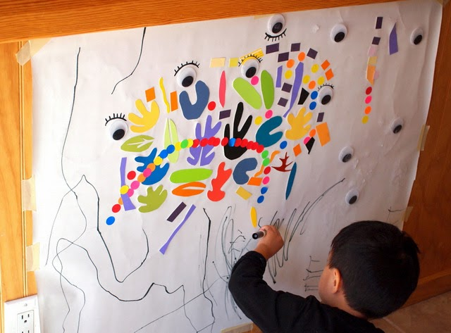 using markers on matisse mural