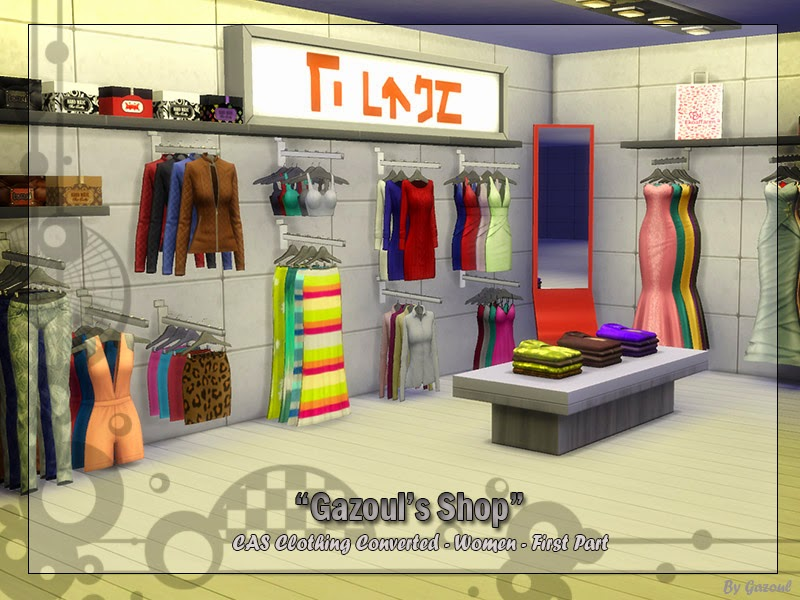 My Sims 4 Blog Clothing Shop Set By Gazoul