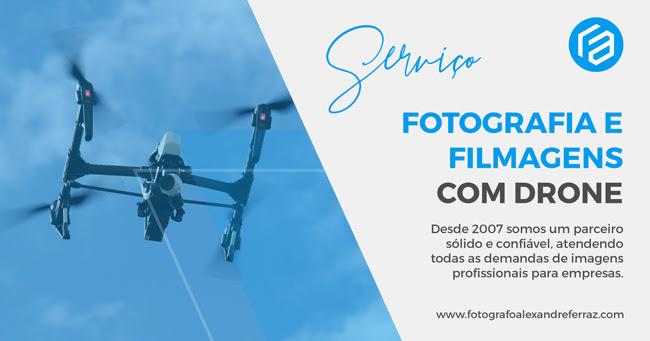 Fotografia e filmagens com drone