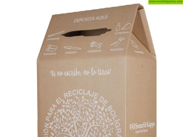 El Cabildo colabora con el proyecto ARBol para reciclar el material de escritura