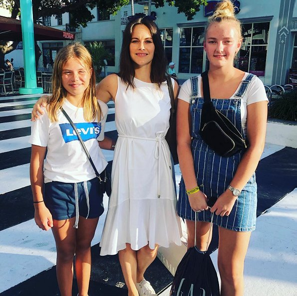 Queen Silvia. Princess Madeleine has been living in Florida. Princess Sofia wore Hugo Boss Kaleva sleeveless dress