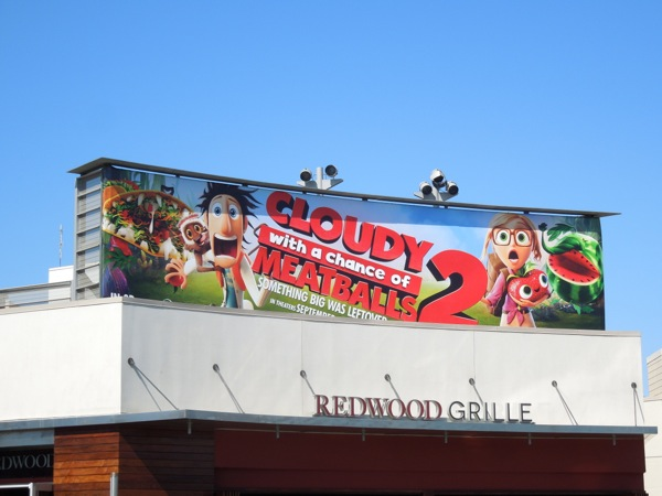 Cloudy with a Chance of Meatballs billboard