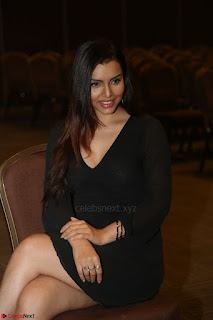 Kyra Dutta in black At Rogue Movie Audio Launch ~  024.JPG