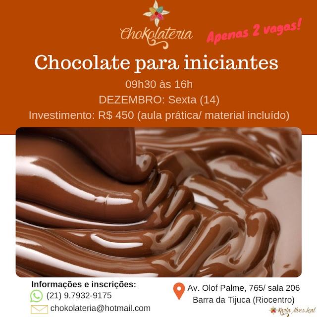 Curso | Chocolate para iniciantes - Dezembro 2018