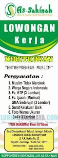 Lowongan Kerja di As-Sakinah (Koperasi Pondok Pesantren Hidayatullah) Surabaya 2019