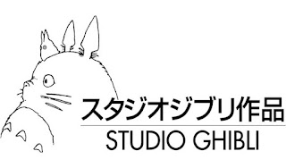 An image of Studio Ghibli's logo. It depicts the name of the company alongside an image of the character Totoro.