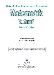 7. Sınıf Matematik Ders Kitabı Cevapları Koza Yayınları