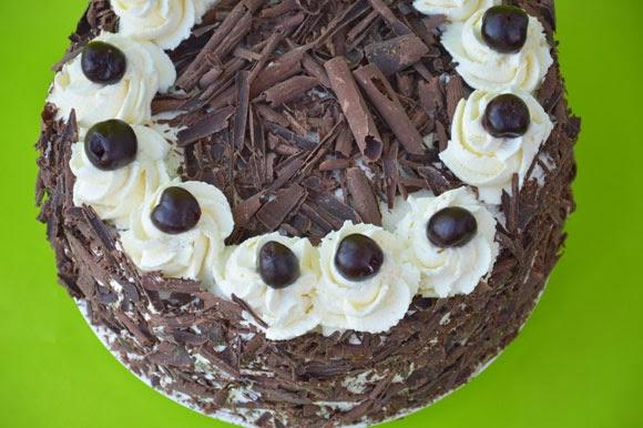Schwarzwalder kirsch chocolade taart