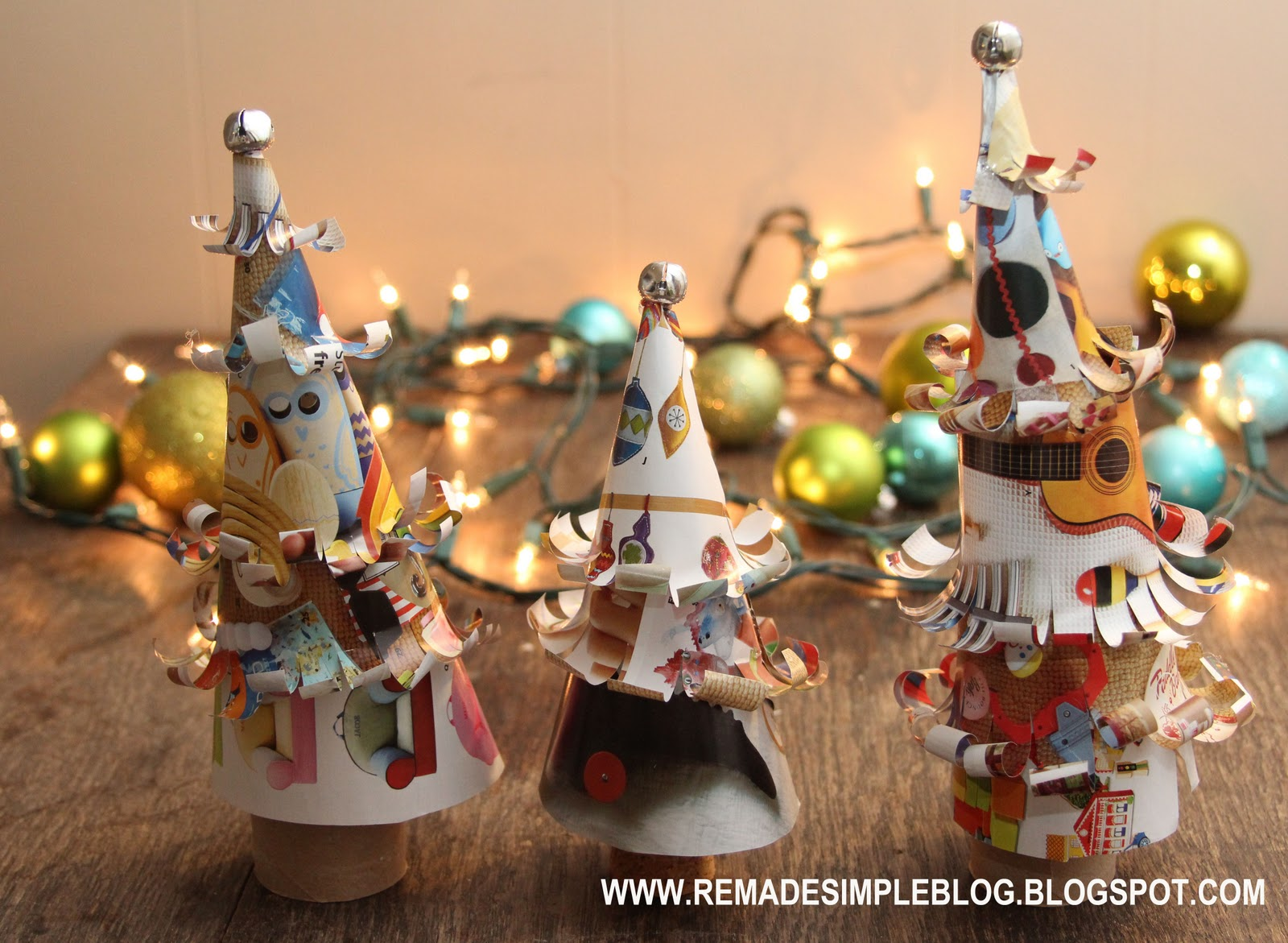 ReMadeSimple: Whimsical Paper Christmas Trees