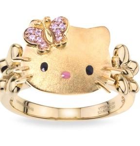 Gambar Cincin Hello Kitty Emas 6