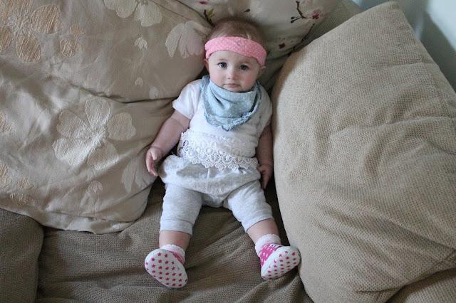 baby wearing pink star 'converse' pink headband