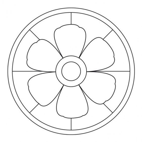Tranh tô màu hình tròn trang trí họa tiết dễ tô