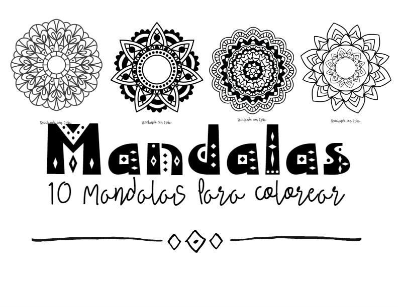 Reciclando con Erika : 10 Mandalas para colorear