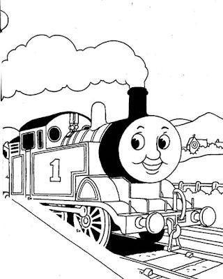 Gambar Mewarnai Thomas and Friends - 3