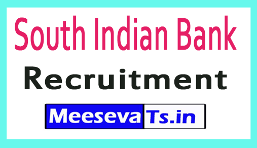South Indian Bank SIB Recruitment