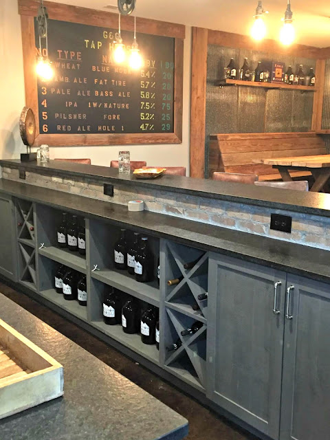 bar storage in basement