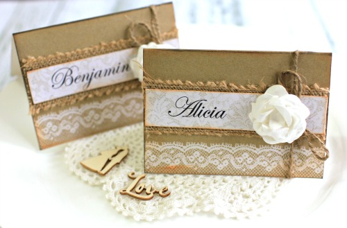 Kaisercraft Always and Forever Wedding Place Cards by Alicia McNamara