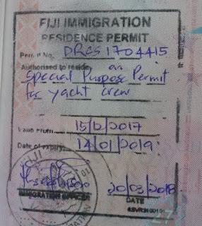 Der Stempel ist im Pass
