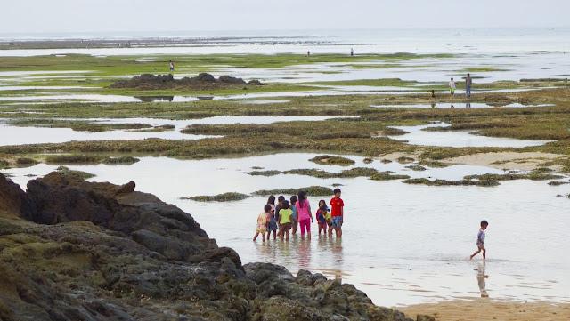 Batu karang pantai Mandalika Beach Lombok