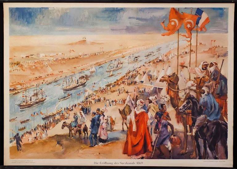 A inauguração do Canal de Suez foi comemorada com leviana euforia. Pareceu prenuncio de paz globalizada pela confluência comercial dos povos e o encontro das religiões. O Beato previa um gigantesco desentendimento entre povos e crenças.