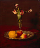 Lemon, Apples and Tulips by Henri Fantin-Latour - Fruits Paintings from Hermitage Museum