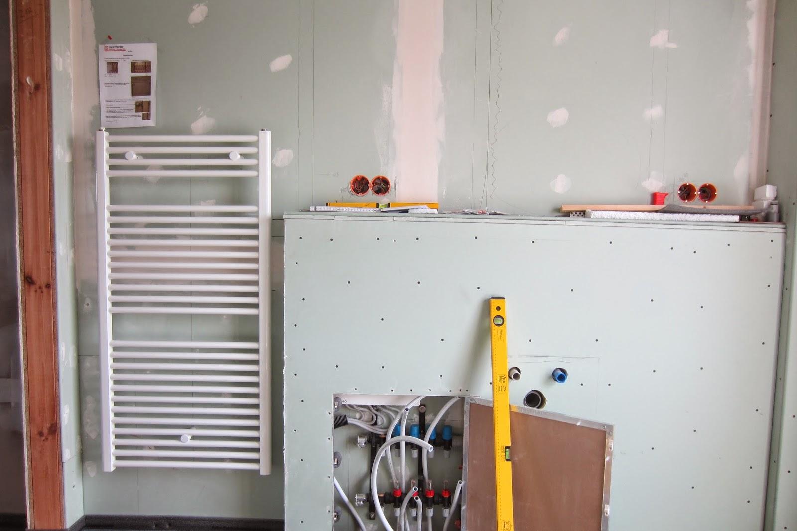 our family dream house: bath towel radiators installation (badetuch