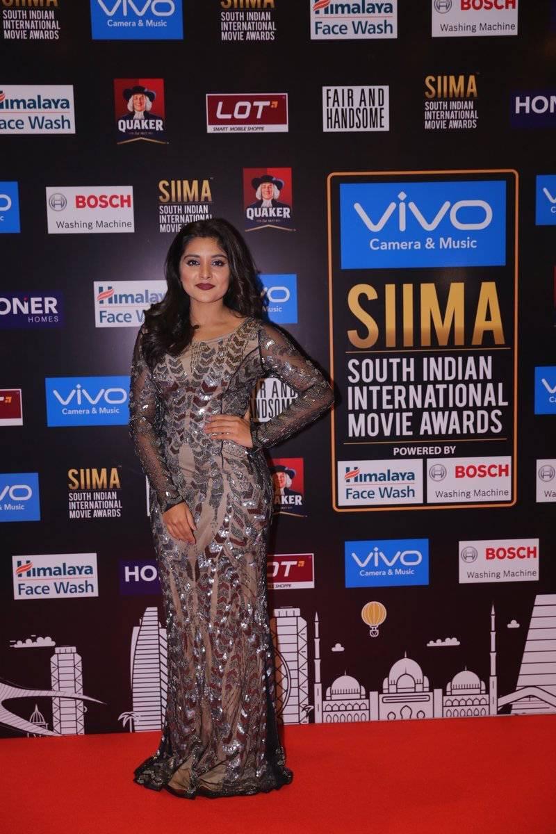 Tollywood Actress Niveda Thomas Photos At SIIMA Awards 2017
