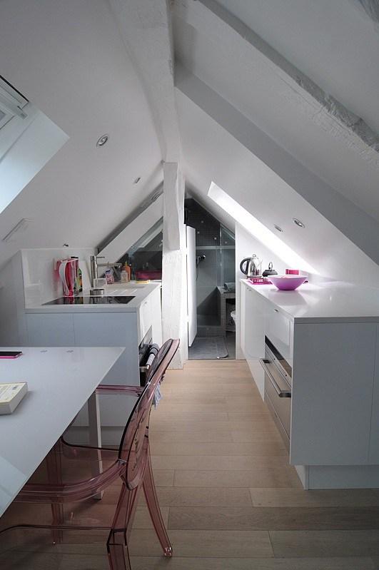 Cocina pequeña para una vivienda de 16 m2