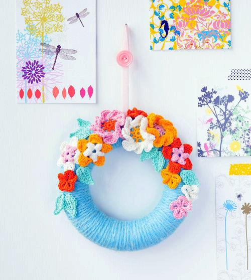 flower wreath crochet pattern