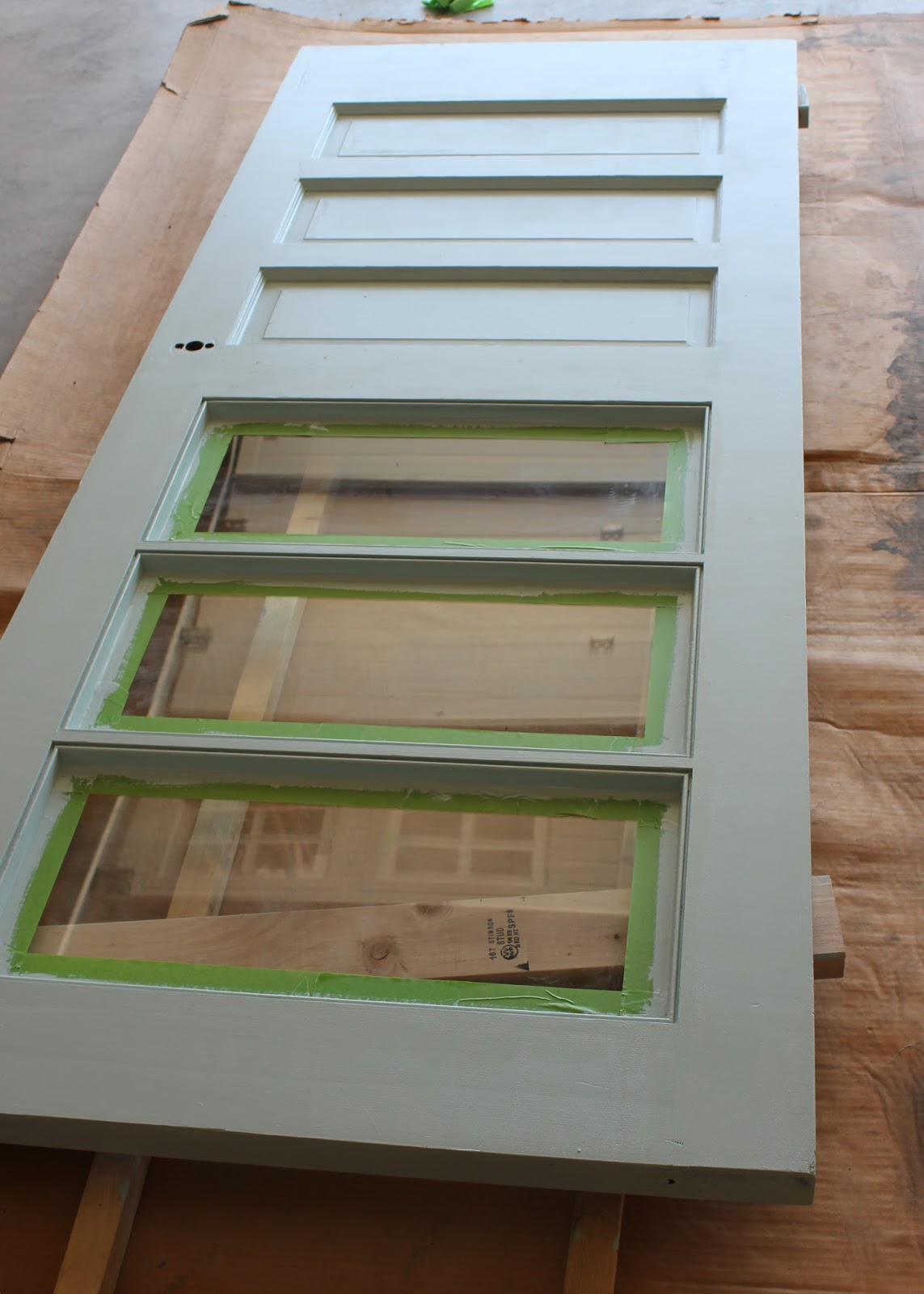 How To Paint An Already Installed Sliding Door