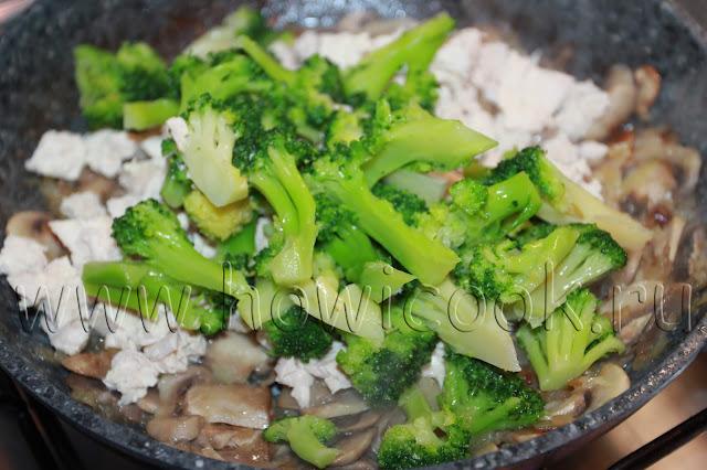 рецепт лоранского пирога с курицей, грибами и брокколи с пошаговыми фото