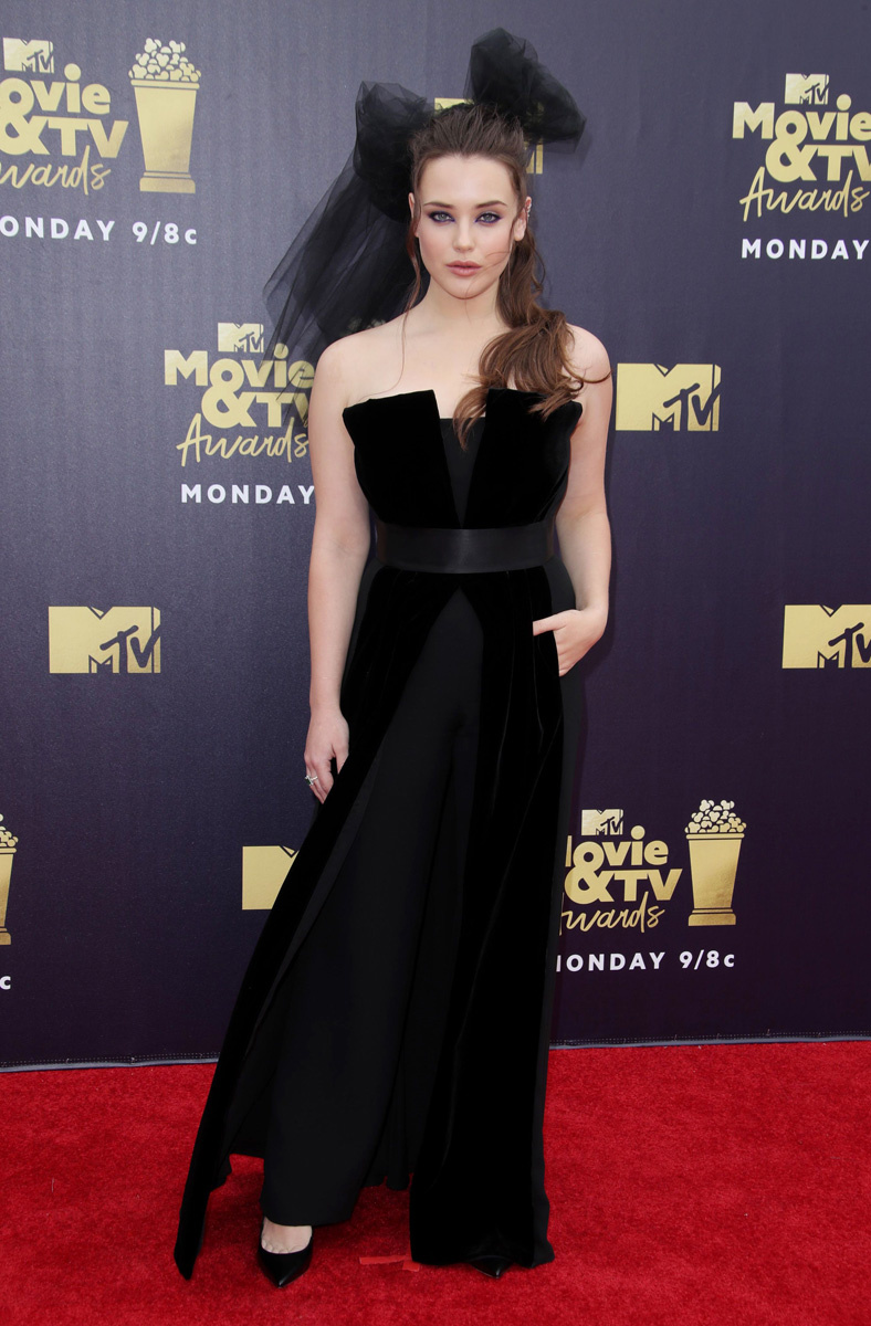 Katherine Langford goes demure for the 2018 MTV Movie Awards