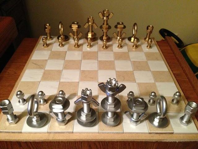 metalden satranç takımı yapmak