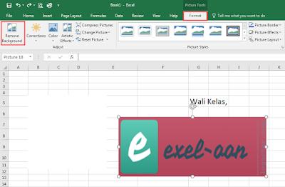 Menghapus latar belakang logo di Excel