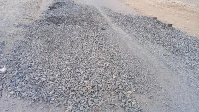 27 लाख का सड़क मरम्मत कार्य 6 महीने भी चल जाए तो गनीमत